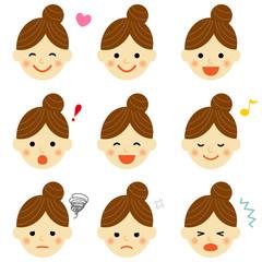 女性 表情