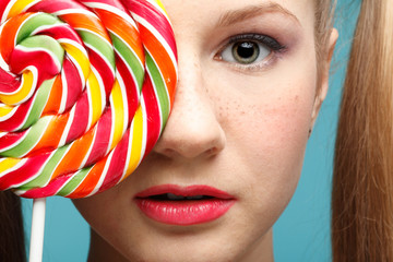 Girl and sugarplum