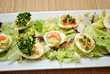 Deviled Eggs on a Bed of Lettuce