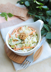 Fresh salad with white cabbage