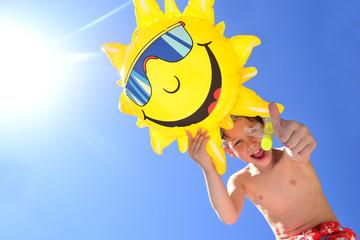 Kind mit Sonne