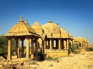 cenotaphs in Bada Bagh - Jaisalmer India
