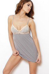 Seductive woman standing in nightie