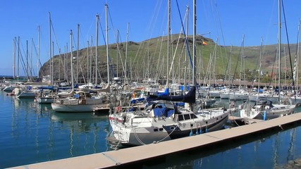 Harbor in San Sebastian de La Gomera island. Canary islands.