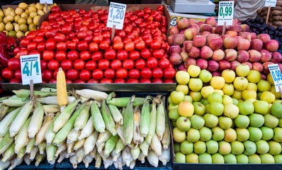Fruits stall in Istanbul