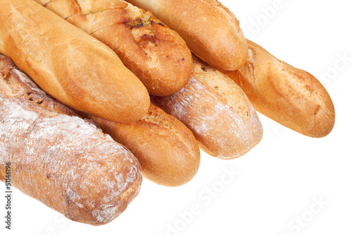 severa baked loaves of bread