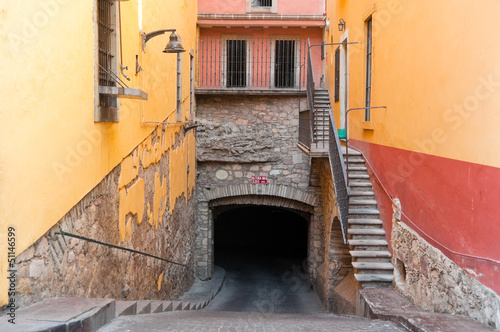 Entrance to the main tunnel of Guanajuato (Mexico)