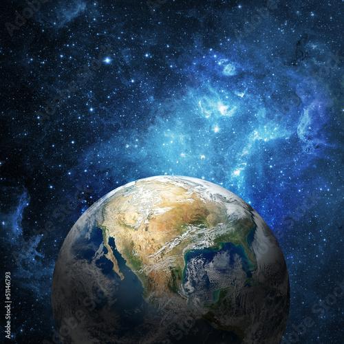 Erde und Galaxie