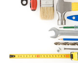 kit of construction tools and instruments