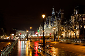 City Hall in Paris at night