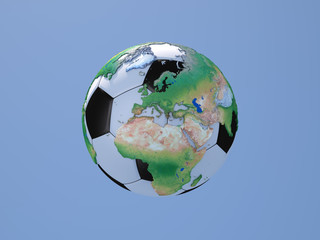 Soccerball with Globe: Europe and Africa