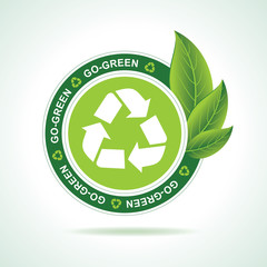 Eco-friendly recycle icon design stock vector