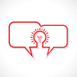 message bubble make a bulb stock vector