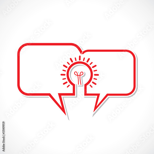 message bubble make a bulb stock vector