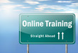"Highway Signpost ""Online Training"""