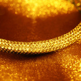 Golden jewelry bracelet