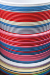 Plastic basins in many colors