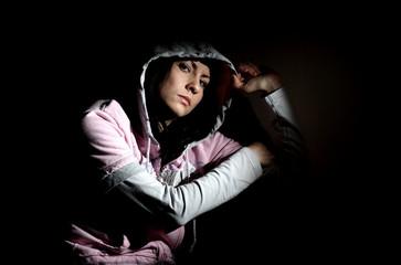 Girl in hood
