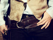 Western gun belt with Colt
