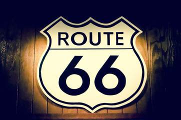 retro route 66 sign
