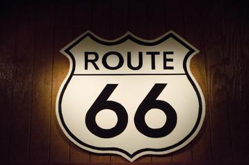 retro route 66 sign