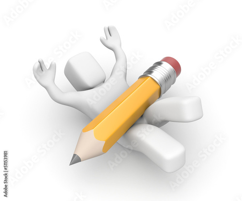Painter with pencil