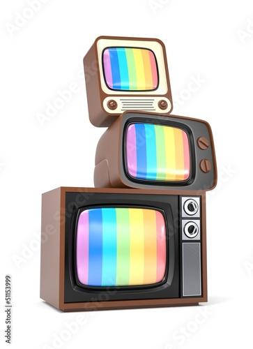 Heap of vintage TV
