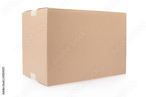 Cardboard box closed, clipping path included - 51154317