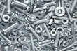 canvas print picture - Nuts and bolts background
