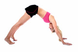 Woman Downward Dog Pilates Position