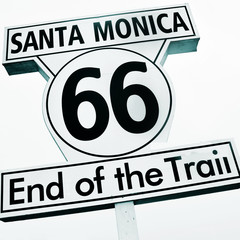 Santa Monica, 66, End of the Trail sign