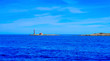 beacon in Illa Des Porcs in Formentera, Balearic Islands, Spain