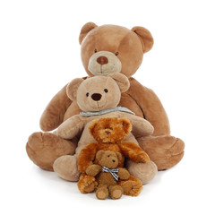 famille d'ours en peluche