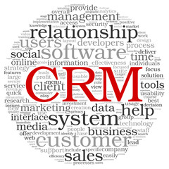 CRM in word tag cloud