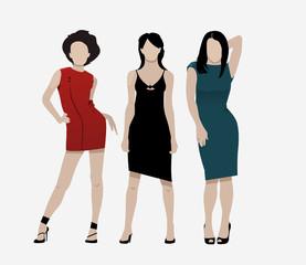 fashion women illustration set