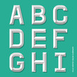Alphabet modern colour style. Vector illustration.