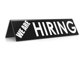 We are hiring in black