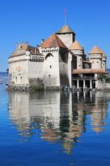 Sunny autumn day on Lake Geneva
