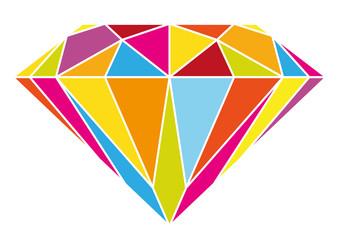 Farbenfroher Diamant