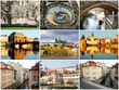 Collage beautiful Prague