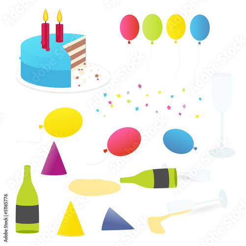 Party equipment illustration isolated