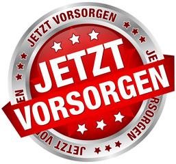 """Button Banner """"Jetzt vorsorgen"""""""" rot/silber"""