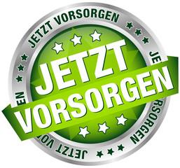 """Button Banner """"Jetzt vorsorgen"""""""" grün/silber"""
