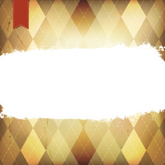 Vintage Argyle Background, With Space For Text.