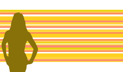 Background Women Retro Vector
