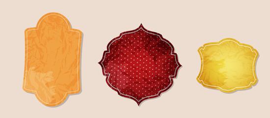 aged paper labels vector illustration