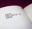 Love is words in the open book
