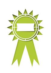 Gütesiegel mit grünem Hintergrund
