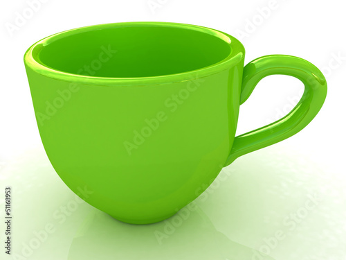 3d cup on a white background