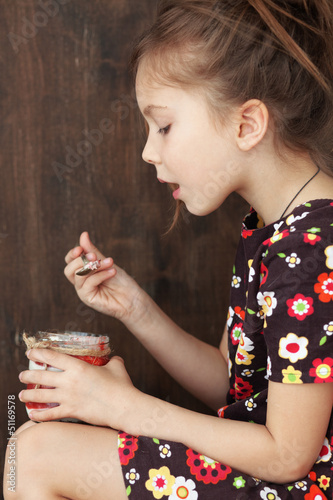 Child eating dessert